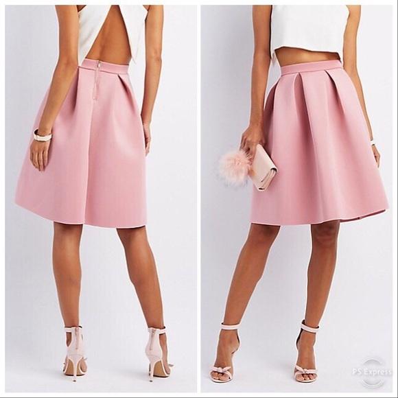 5c94c2071 Charlotte Russe Dresses & Skirts - Blush Pink Scuba Midi Skirt💛